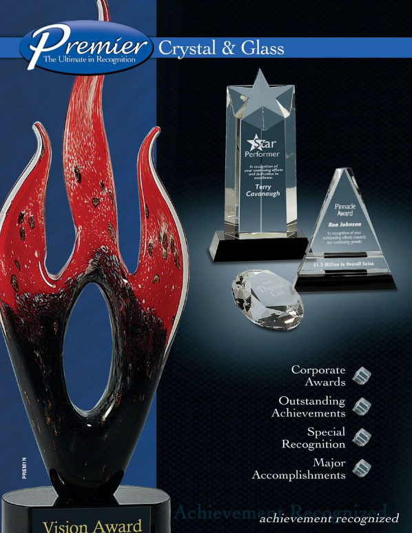 Premier Crystal & Glass Awards Catalog